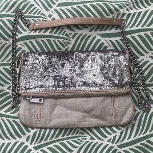 Rebecca Minkoff Sequin Linen Crossbody Bag